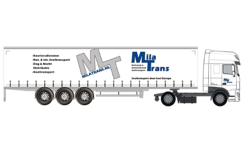 Mila Transport DAF oplegger